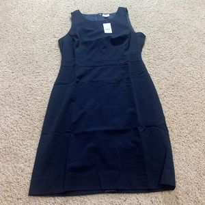 J crew suiting dress sleeveless navy blue new